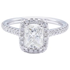 David Rosenberg 1.02 Carat Radiant I/SI2 GIA Certified Diamond Engagement Ring