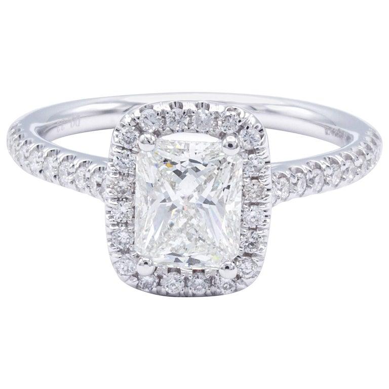 David Rosenberg 1.02 Carat Radiant I/SI2 GIA Certified Diamond Engagement Ring