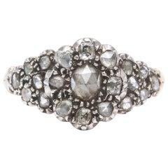 Antique Georgian Ladies Diamond Cluster Ring