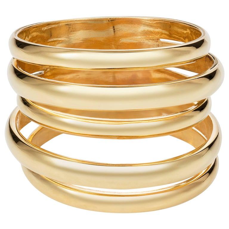 Minka Gems Berlin Yellow Gold Stack Bands Rings For Sale