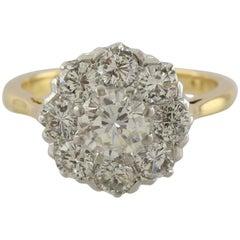 Diamond Cluster 2.10 Carat WGI Certified Ring