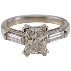 2.09 Carat Princess Cut Diamond Ring EDR Certified Ring