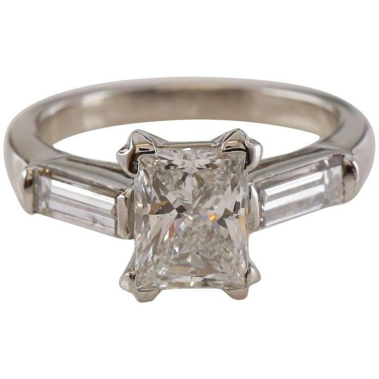 2.09 Carat Princess Cut Diamond Ring EDR Certified Ring