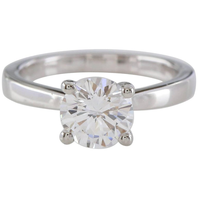 GIA 1.50 Carat Round Brilliant Certified Diamond Ring