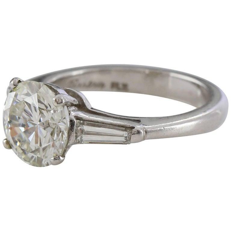 Round Brilliant 2.31 Carat IGL Certificated Diamond Ring