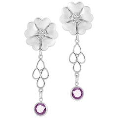 Amethyst Blossom Chandelier Earrings