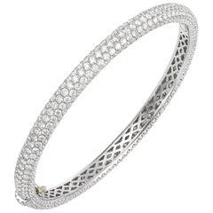 White Gold and Pave Diamond Bracelet