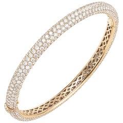 Rose Gold Pave Diamond Bangle Bracelet