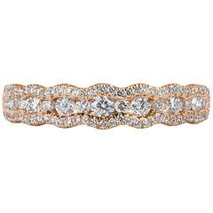 Mark Broumand 0.55 Carat Round Brilliant Cut Diamond Ring in 14 Karat Rose Gold
