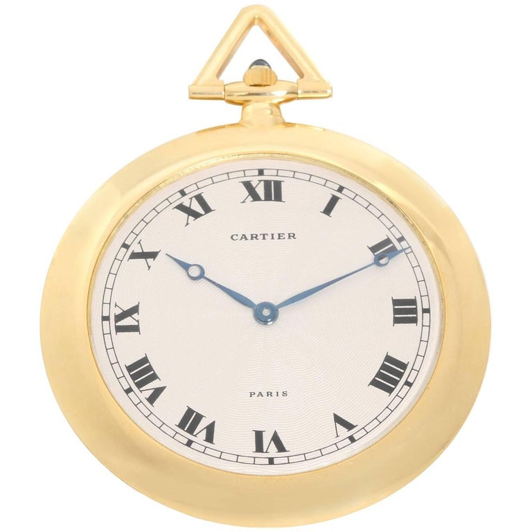 Cartier Yellow Gold Manual Pocket Watch Ref 891000CH, circa 1990s