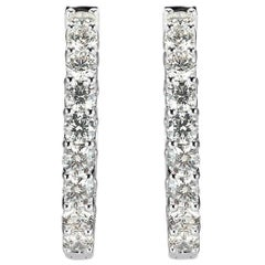 Mark Broumand 7.00 Carat Round Brilliant Cut Diamond Earrings in 14 Karat Gold