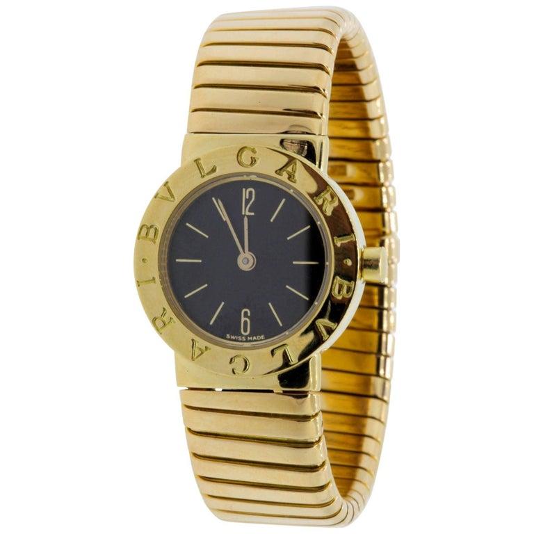 Bulgari Ladies Yellow Gold Tubogas Wristwatch