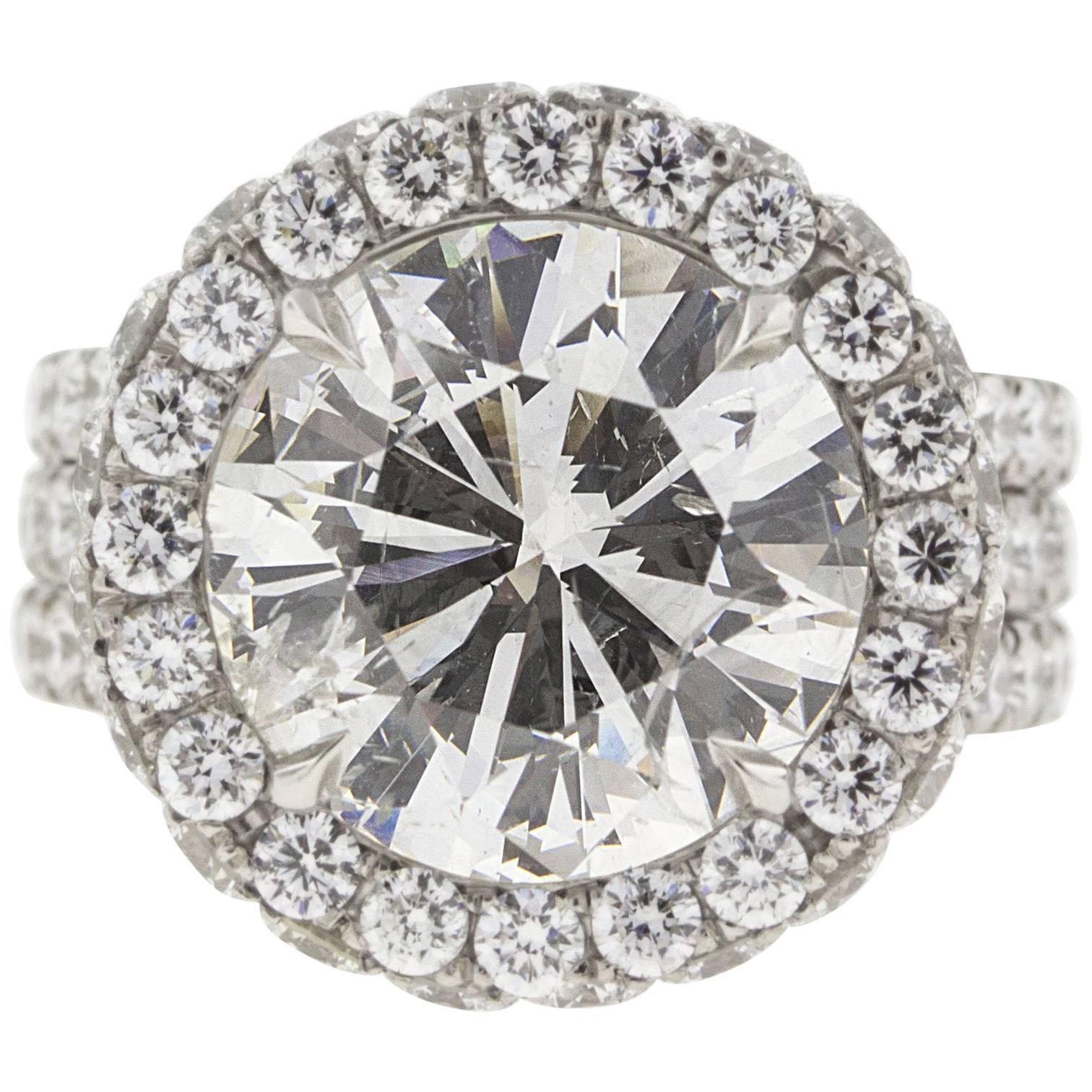 5 Carat Custom Diamond and Platinum Engagement Ring (GIA)