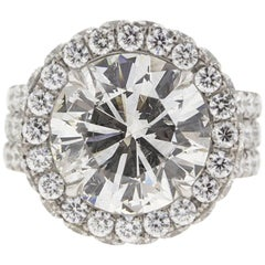 5 Carat Custom Diamond and Platinum Engagement Ring (GIA)