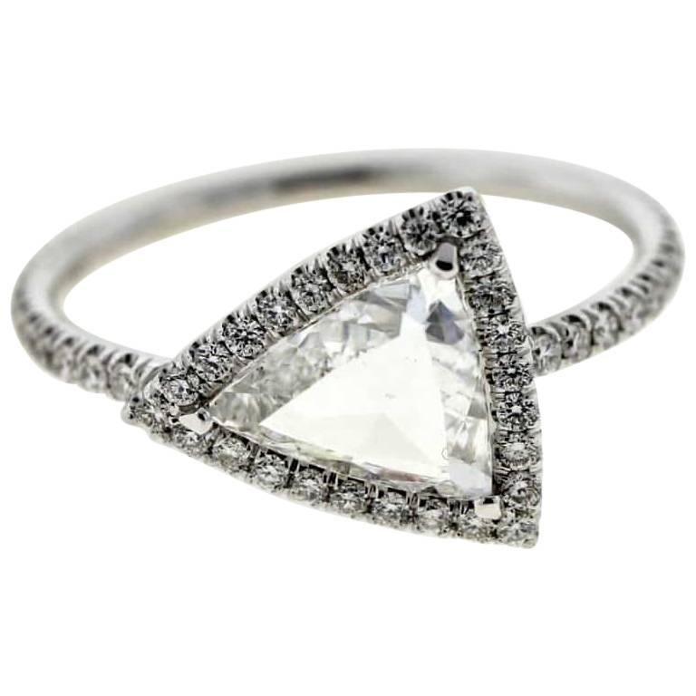 Triangle Diamond (Certified) Engagement Ring For Sale at 1stdibs a803d5d75