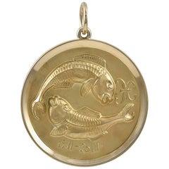 Gold Pisces Pendant/Charm