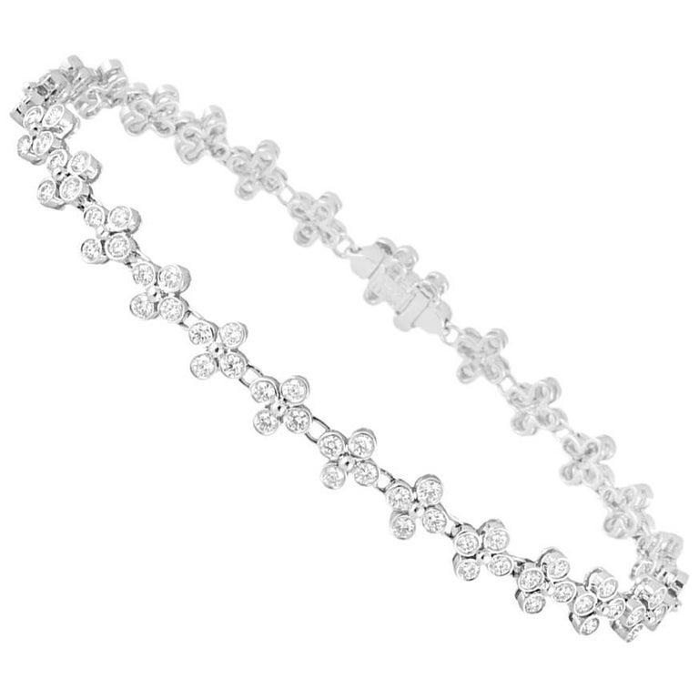 Tiffany Co Platinum Lace Diamond Bracelet 3 21 Carats For