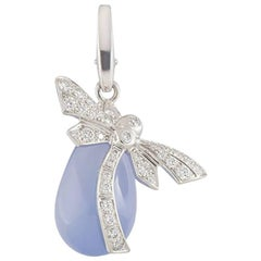 Cartier Diamond and Chalcedony Dragonfly Charm