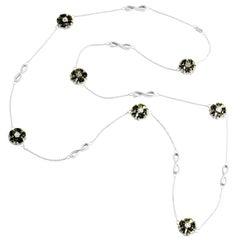 """Olive Peridot 46"""" Blossom Infinity Lariat"""
