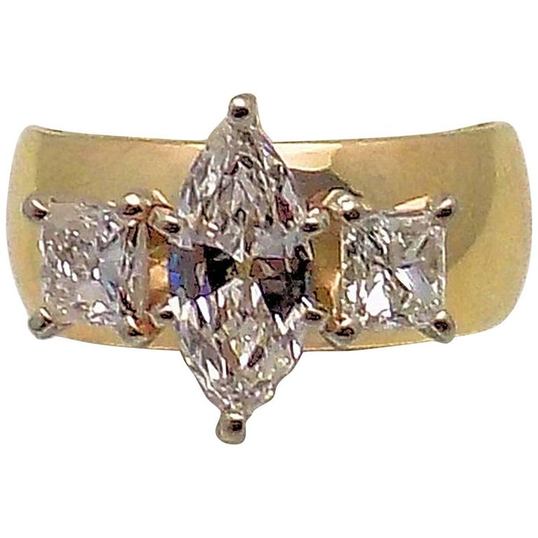 Marquis and Princess Cut Diamond Band For Sale