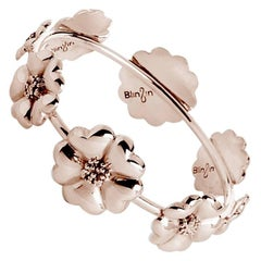 14k Rose Gold Vermeil Blossom Graduated Bangle