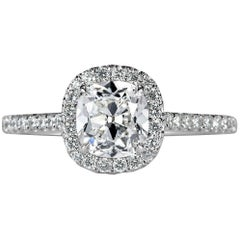 Mark Broumand 1.42 Carat Old Mine Cut Diamond Engagement Ring