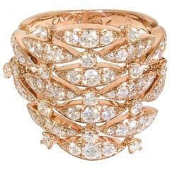 Rose Gold Diamond Cocktail Ring by Casato