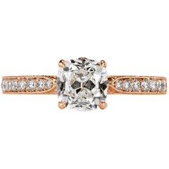 Mark Broumand 1.80 Carat Old Mine Cut Diamond Engagement Ring