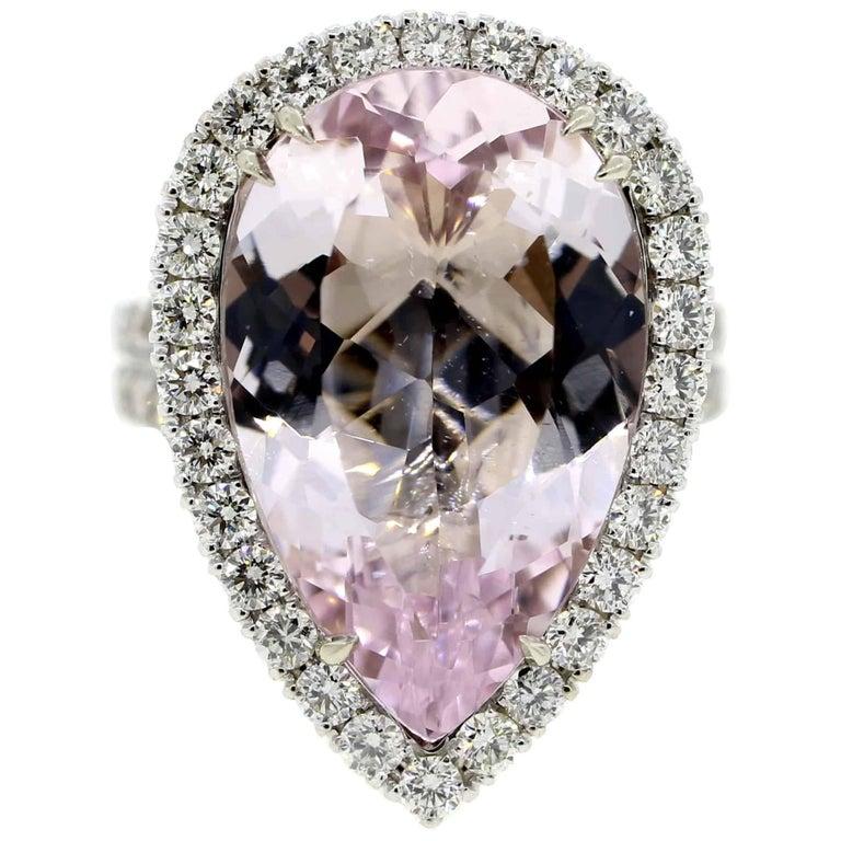 Pink Morganite and Diamond Cocktail Ring