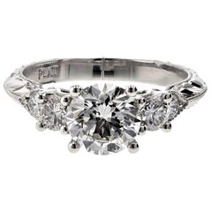 Seven-Stone Diamond Engagement Ring in Platinum (GIA Certified)