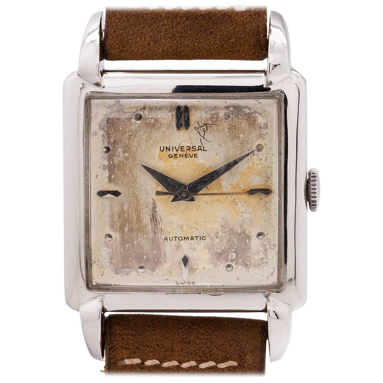 Universal Geneve Stainless Steel Automatic Wristwatch, circa 1950s