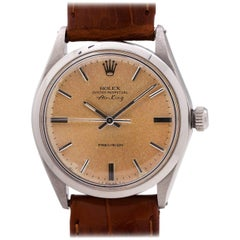Rolex Stainless Steel Oyster Perpetual Peach Dial Self-Winding Wristwatch, c1973