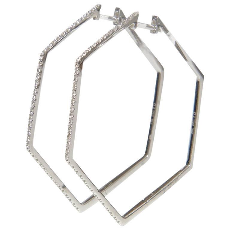 Angular Top Diamond Earrings