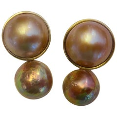 Michael Kneebone Kasumi Pearl Mobe Pearl Drop Earrings