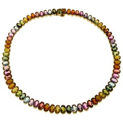 H. Stern Brazil Multi-Color Gemstone Yellow Gold Necklace