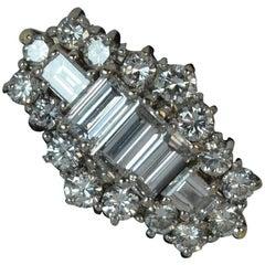 2.00 Carat VS Diamond 18 Carat Gold Ladies Cluster Ring