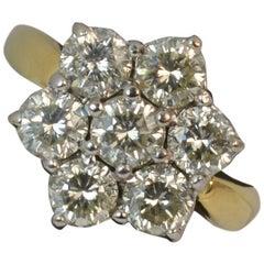 Diamond 18 Carat Gold Daisy Cluster Ring