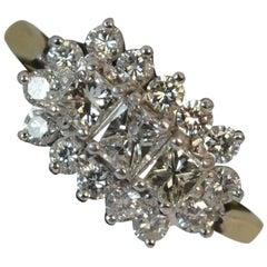 Diamond 18 Carat Gold Cluster Ring