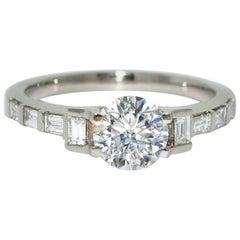 Lizunova Art Deco Diamond Bridal Engagement Ring