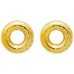18 Carat Gold Wild Diamond Earring