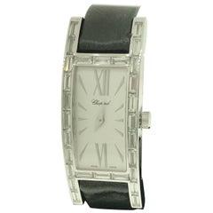 Chopard Les Classique White Gold Baguette Diamond Bezel Ladies Watch 13/7217 New
