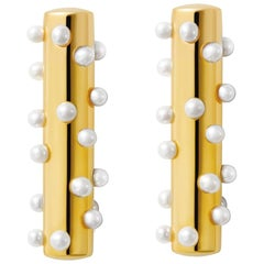 18 Carat Gold Bubble Pearls Earring