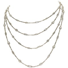 18.77 Carat Diamonds by the Yard Platinum Chain Necklace