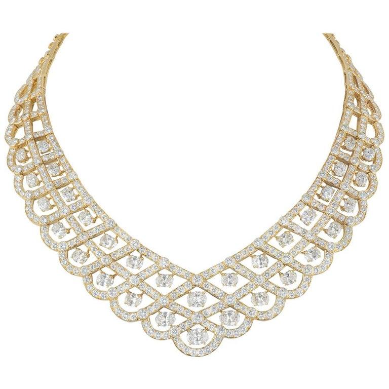 Van Cleef & Arpels Diamond Vintage Bogota Necklace 57.40 Carat