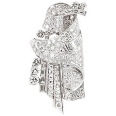 5.00 Carat Vintage Diamond Brooch