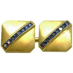 Sapphire Set Square Cufflinks