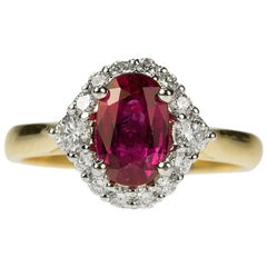 Ruby and Diamond Gold Ring
