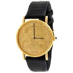 Corum Yellow Gold Twenty Dollar Coin Quartz Wristwatch