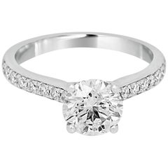 Diamond White Gold Solitaire Engagement Ring