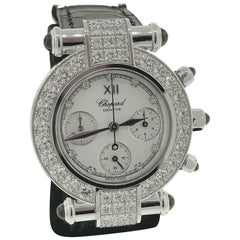 Chopard Imperiale White Gold & Diamond Chronograph Ladies Watch 38/3168-1025 New